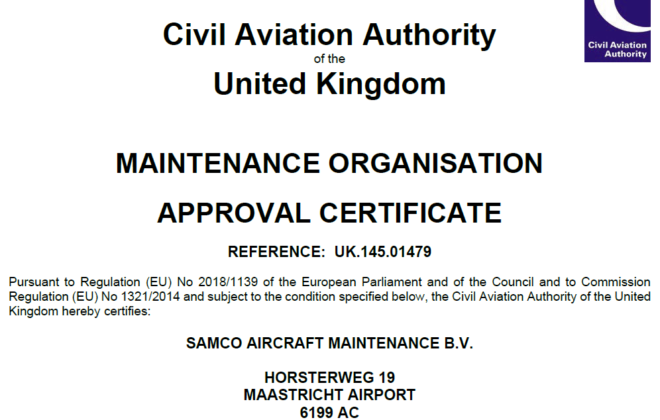 UK-CAA approval